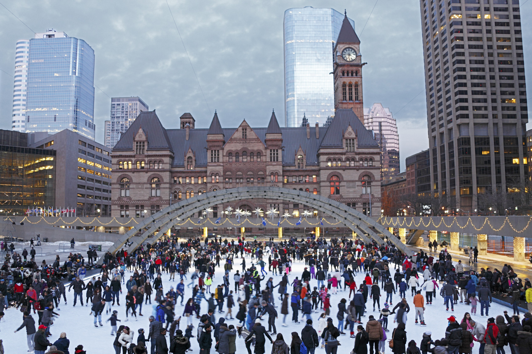 Holiday Ice Skating in Toronto, Canada