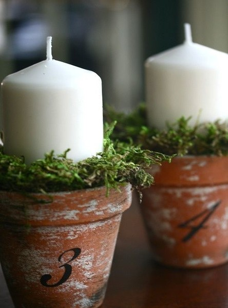 Candles In Pots Idea