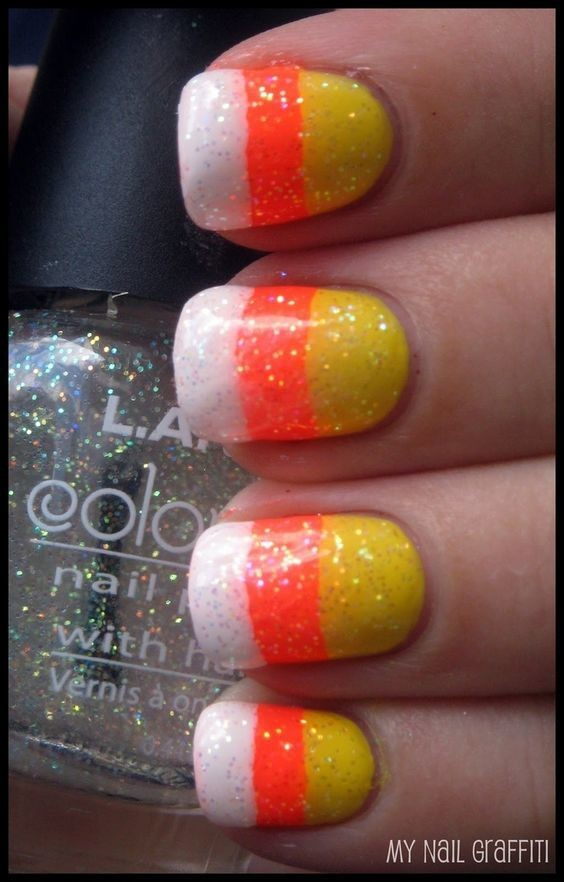 Cute Candy Corn - Halloween Nails So Cool They'll Give You ...