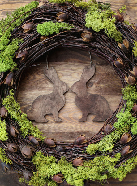 Go rustic with bunny kisses