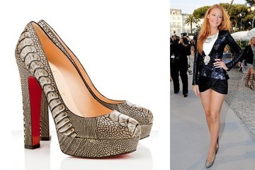 Blake Lively Raises the Stakes in Louboutin Pumps