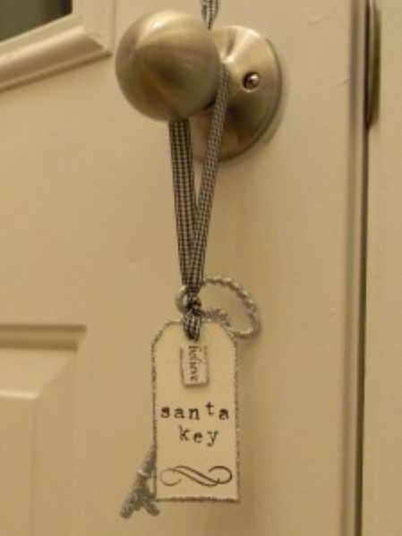 Leave out a key for Santa