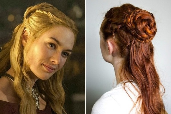 Cersei s Half Up Braided Bun Game of Thrones Inspired