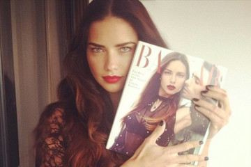 Adriana Lima Shows Off Her Harper's Bazaar Cover