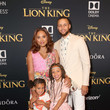 Steph Curry, Ayesha Curry, And Daughters Riley And Ryan
