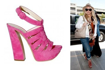 Jessica Simpson Jet Sets in Casadei Platforms