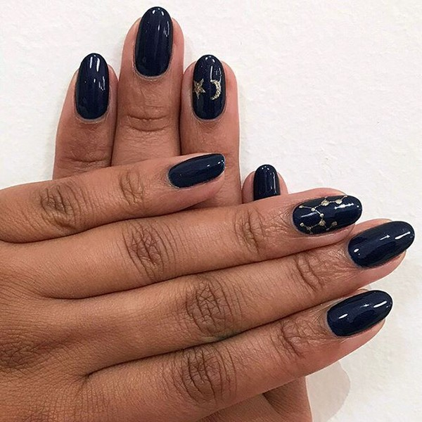 Sagittarius-Inspired Nails