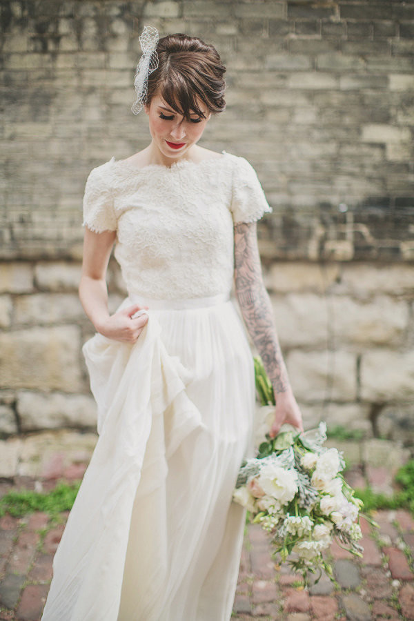 Single sleeve gorgeous brides flaunting gorgeous tattoos for Tattoos and wedding dresses