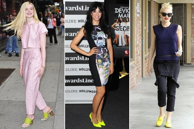 creative outfits with yellow shoes black