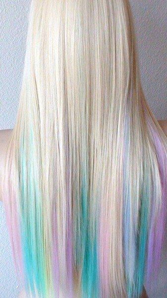 Blonde Pastel Color Highlights