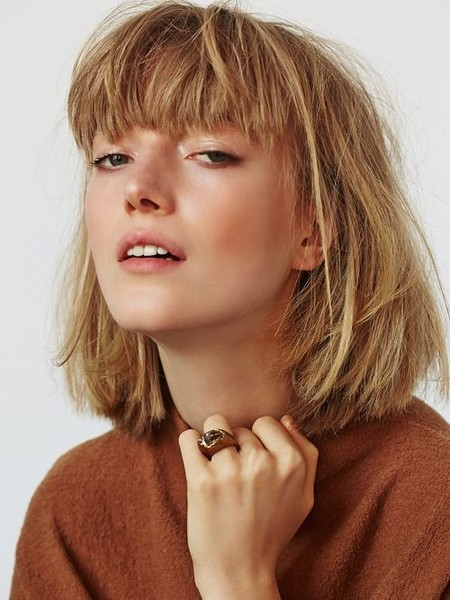 Bangs With Short French Inspired Bobs