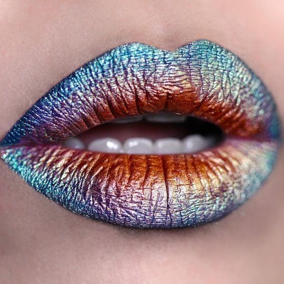 Oil Slick Lips