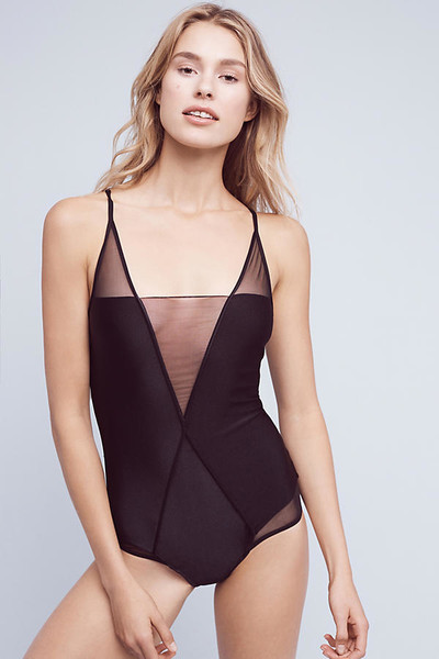 Mesh One-Piece Swimsuits