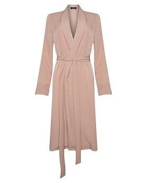 Missguided Satin Black Crepe Duster Pink