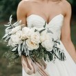 White & Taupe Bouquet