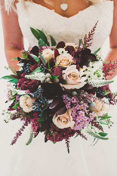 Peach & Plum Bouquet