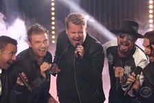 Watch James Corden and The Backstreet Boys Belt Out a Classic Boy Band Anthem