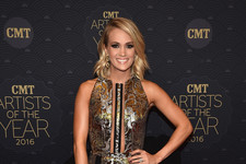 Look of the Day: Carrie Underwood's Metallic Mini