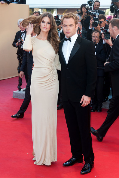 Chris Pine And Dominique Piek At The 2012 Cannes Film Festival