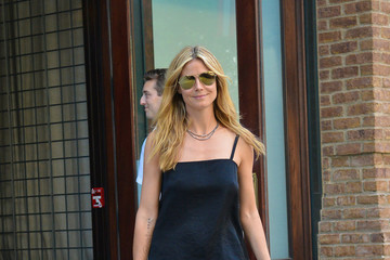 Heidi Klum Unleashes Her Wild Side With A Leopard-Print Skirt