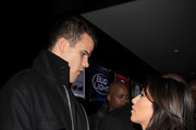 Kim Kardashian and boyfriend Kris Humphries get close at an NBA All-Star Game after party hosted by her sister Kloe at Club Nokia.