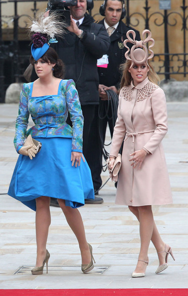 Princess Eugenie And Beatrice Wear Interesting Outfits To The Royal Wedding
