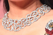 Salma Hayek Diamond Statement Necklace