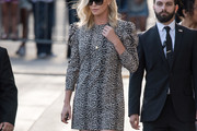 Charlize Theron Print Dress