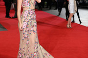 Suki Waterhouse Embroidered Dress
