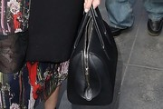Diane Kruger Leather Bowler Bag