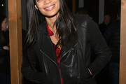 Rosario Dawson Leather Jacket