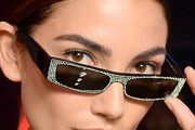 Lily Aldridge Rectangular Sunglasses