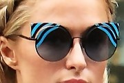 Paris Hilton Print Sunglasses