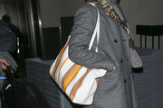 Milla Jovovich Leather Shoulder Bag