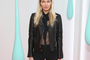 Jessica Hart Leather Jacket