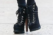Nicky Hilton Lace Up Boots
