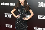 Christian Serratos Print Dress