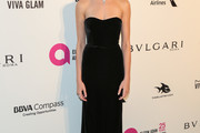 Hailey Clauson Strapless Dress