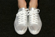Jessica Stam Leather Sneakers