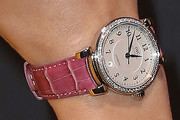 Karolina Kurkova Leather Band Quartz Watch