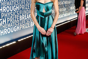 Hilary Swank Strapless Dress