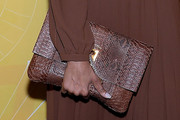 Iman Leather Clutch