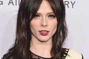 Coco Rocha Long Wavy Cut with Bangs