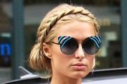 Paris Hilton Braided Updo