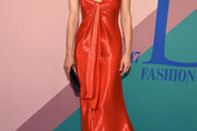 Amber Valletta Strapless Dress