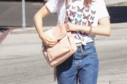 Lily Collins Designer Backpack