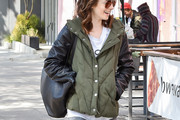 Lily Collins Down Jacket