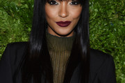 Jourdan Dunn Long Straight Cut with Bangs
