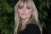 Sophie Dahl Long Straight Cut with Bangs