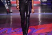 Joan Smalls Leather Pants